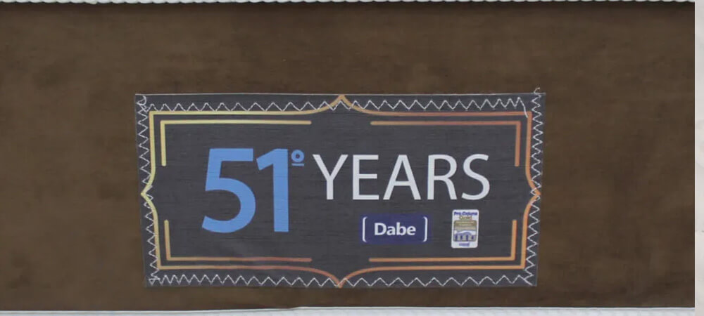 Etiqueta Dabe 51 Years